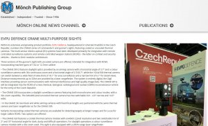 Read about us: Our CRANE Gunner Sight on  Mönch Publishing Group website