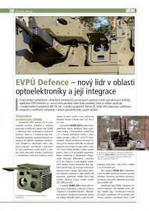 Read about us in Czech ATM - EVPU Defence - New Leader in Optoelectronics and its Integration