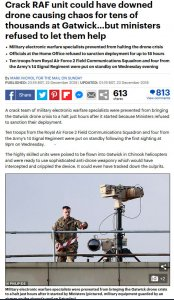 Photo, article - Daily Mail - Anti dron system - Gatwick airport