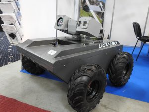 IDEB 2018 - electro-optical system MIRA  mounted on robotic remote controlled unmanned vehicle UGV-150