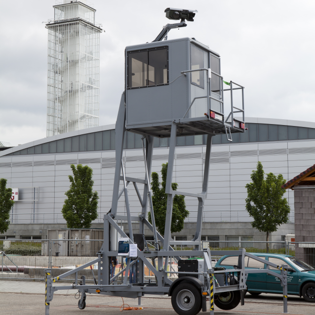 Tower Electro-Optical Surveillance System - including IR camera, day / night camera and various optical sensors